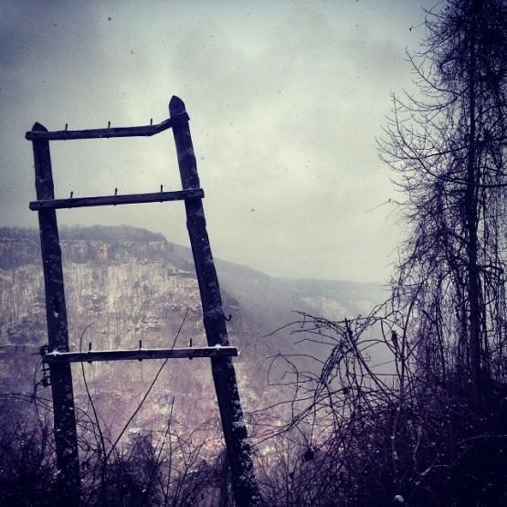 Kaymoor Mine Ruins On A Snowy Day