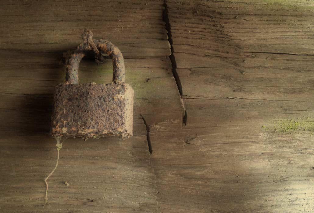 rusted-padlock-trump-lilly-farmhouse-new-river-gorge-region
